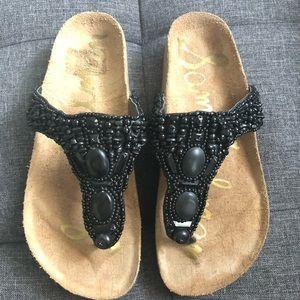 Sam Edelman Annalee T-strap Flat Leather Sandals